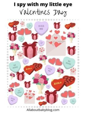 Printable Valentine's day I spy game