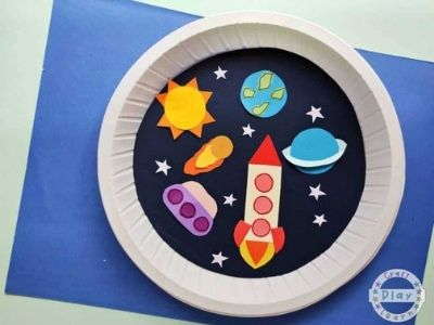 paper plate space craft universe