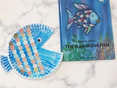 the rainbow fish paper plate craft