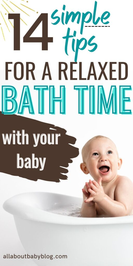 how to have a relaxed bath time with your baby
