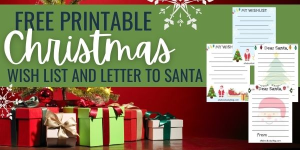 print at home letter to santa and wishlist