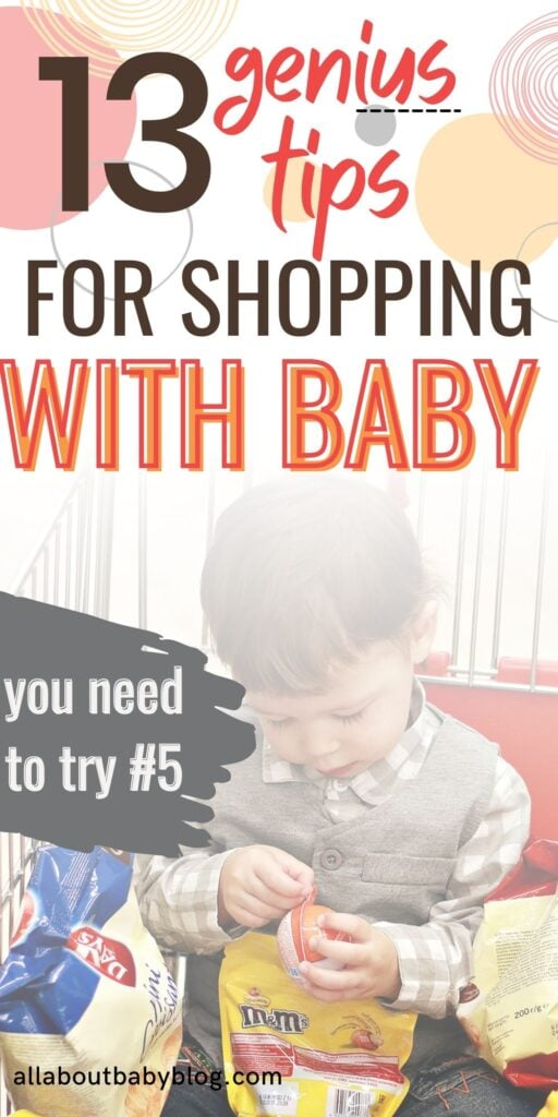 super smart tips for shopping with a baby