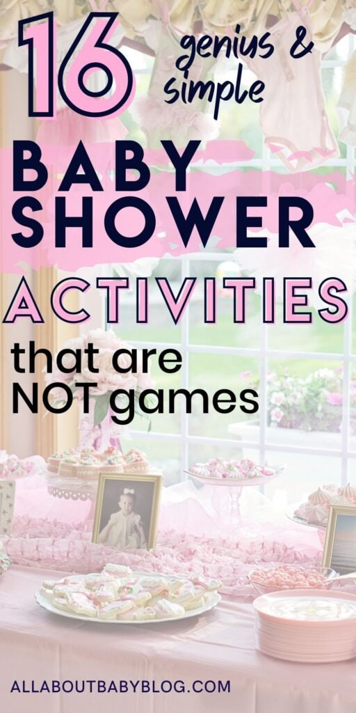 activities for a baby shower that are not games